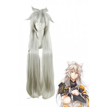 刀剣乱舞-ONLINE- 小狐丸 ウィッグ 120cm ストレート ロング ホワイト コスプレウィッグ 花 ML77