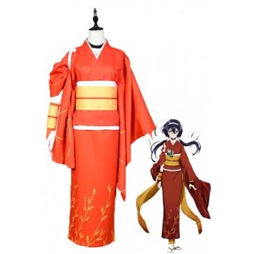 文豪ストレイドッグス 泉鏡花 赤色の着物 コスチューム コスブレ衣装