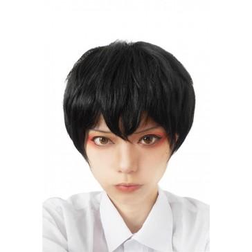25cm ショート ブラック 黒髪 男性用  ストレート  ファッション ウィッグ 人気 安い  通販