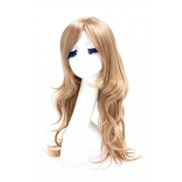【耐熱ウィッグ】60cm ロング 亜麻色高品質 綺麗なウィッグ専用ネット付 FL09B