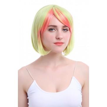40センチメートルミディアムミックスカラーストレートコスプレウィッグアニメの毛