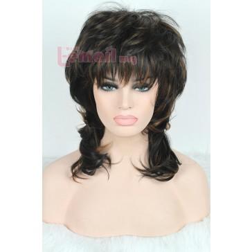 40cm  ミディアム  ミックスカラー  ウエーブヘア ファッションウィッグ レディース用 安い 通販