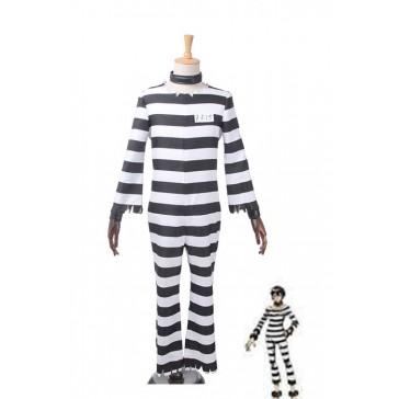 ナンバカ 囚人番号15 ジューゴ 縞模様コスプレ 衣装 通販 激安 コスチューム アニメCC2576A