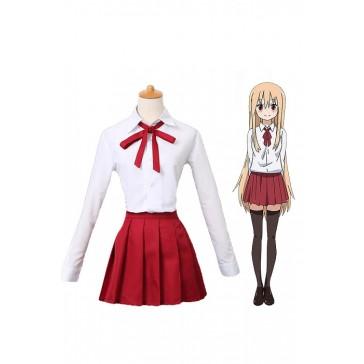 干物妹!うまるちゃん  土間埋  白色と赤色  学校制服  コスチューム  コスプレ衣装