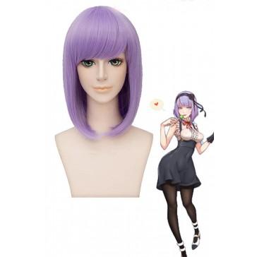 だがしかし 枝垂ほたる  ミディアム  紫色  かつら  コスプレウィッグ