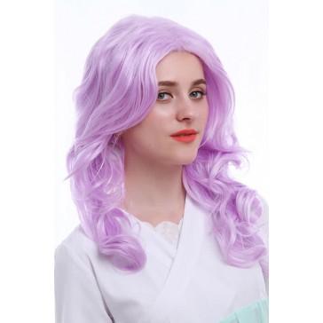 55cm ピンク  コスプレ ウィッグ ミディアム カール ファッションウィッグ ZY89