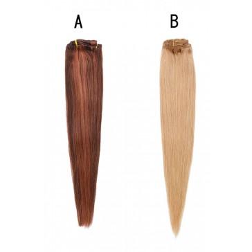 230g 淡黄 赤銅色 2色入荷 人毛 毛束 クリップ ウィッグ かつら 高品質
