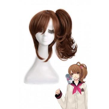 45cm ブラウン 朝日奈絵麻風 ブラザーズ  コンフリクト コスプレウィッグ 安い 通販