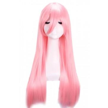 巡音ルカ 65cm ロング  ピンク  アニメ  ストレート コスプレウィッグ 可愛い  安い 通販