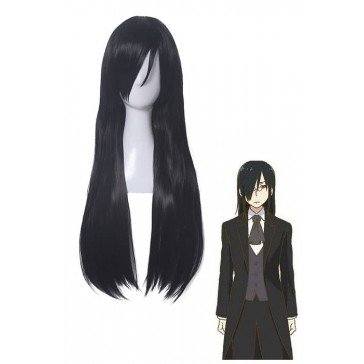 小林さんちのメイドラゴン ファフニール 長い ブラック コスプレウィッグ 通販 高品質   かつら CW179
