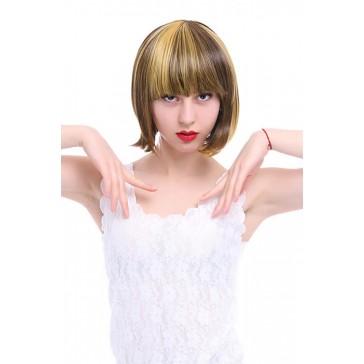 【耐熱ウィッグ】25cm ショートボブ ミックスカラー ファッションウィッグFS02C