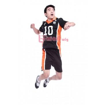 【送料無料】ハイキュー!!烏野高校 日向翔陽 背番号10 Lサイズ コスプレ衣装