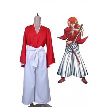 るろうに剣心 緋村剣心 赤色 武士服 着物 コスプレ衣装 コスチューム