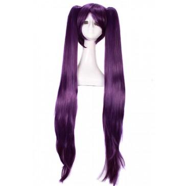 120cmスーパーロング パープル ツインテール紫色コスプレウィッグ かつら