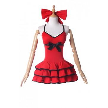 FATE FGO アルトリア・ペンドラゴン 水着 レッド コスプレ衣装 人気 セクシー コスチューム 安い 通販 仮装