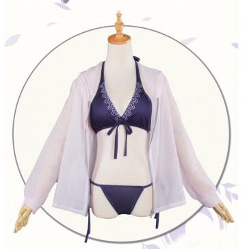 FATE FGO ジャンヌ・ダルク コスプレ 水着 パーカー付き 紫 ピンク コスチューム 安い 通販