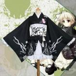 ヨスガノソラ 春日野穹  かわいい 黒い 和服 コスプレ衣装 通販 人気 仮装