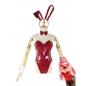 「予約注文」ダーリン・イン・ザ・フランキス  ゼロツー 02 赤い バニーガール コスプレ衣装 コスチューム 通販 安い