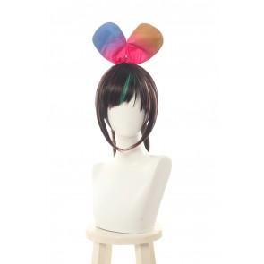 バーチャルYouTuber キズナアイ 絆愛 KizunAI アルバム「hello, world」 コスプレウィッグ  ウィッグのみ 安い 通販 かつら
