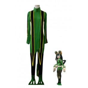 僕のヒーローアカデミア 蛙吹梅雨 戦闘服 グリーン 安い コスプレ 衣装 通販 激安 コスチューム アニメ