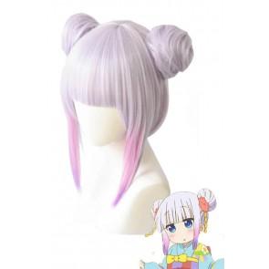 小林さんのメイドドラゴン カンナ 和服髪型 コスプレウィッグ 通販 高品質 かつら   LYT07