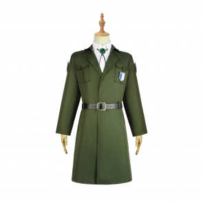 進撃の巨人 コスプレ衣装 コート 調査兵団 ファイナルシーズン マレー軍 ダークグリーン 大人用