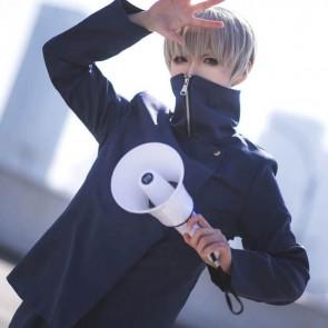 呪術廻戦  狗巻 棘  コスプレ衣装 紫 黑  いぬまき とげ コスチューム  制服 イベント仮装 お買い得  通販