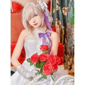 FATE FGO マシュ・キリエライト コスプレ衣装 ホワイトドレス 交響楽団 コスプレ衣装 コスチューム 通販 安い