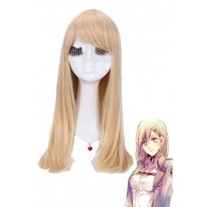 55cm ロング 進撃の巨人風  クリスタ・レンズ風 コスプレウィッグ アニメ  CW143A