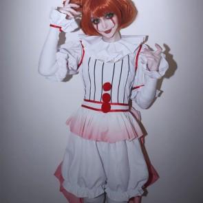 『IT』HORROR美少女 ペニーワイズ 性転換 コスプレ衣装  コスプレ服  イット  コスチューム 全アクセサリー