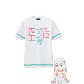 エロマンガ先生 和泉紗霧 ホワイト Tシャツ カジュアル コスプレ衣装