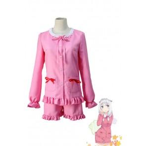 エロマンガ先生 和泉紗霧 かわいい ピンク パジャマ コスプレ衣装