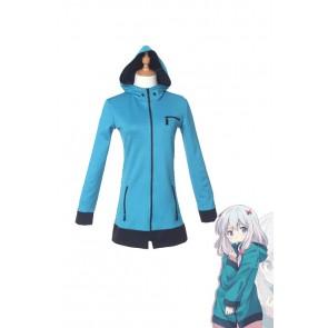 エロマンガ先生 和泉紗霧 ブルー コート コスプレ 衣装