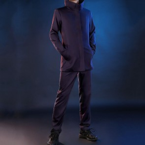 襟大きい 呪術廻戦  五条悟  コスプレ衣装 紫  ごじょう さとる コスチューム  制服 イベント仮装 お買い得  通販